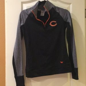 VS PINK NFL Collection Chicago Bears Half Zip